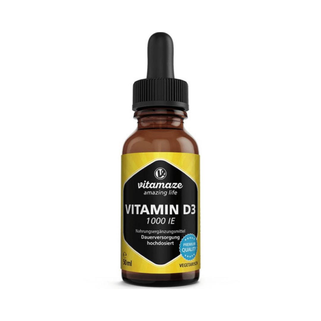 Vitamin D3 Tropfen 1.000 IE hochdosiert & vegetarisch, 50 ml